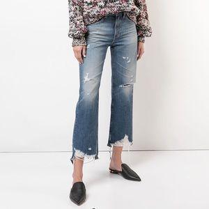AG Rhett Destroyed Straight Jeans